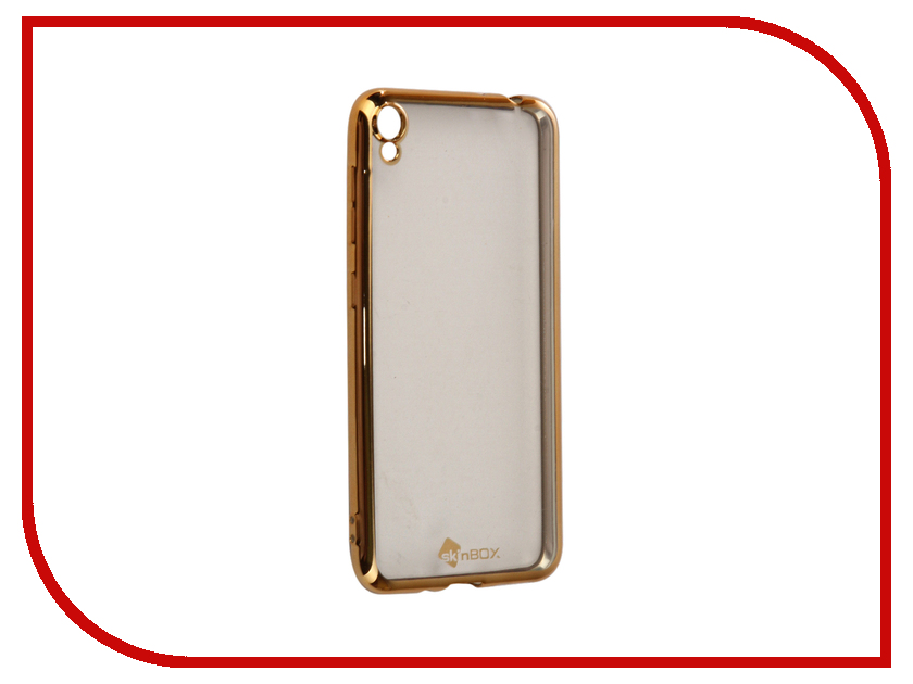 Аксессуар Чехол-накладка ASUS ZenFone Live ZB501KL SkinBox Silicone Chrome Border 4People Gold T-S-AZLZB501KL-008 чехол для asus zenfone go zb500kg skinbox 4people silicone chrome border case темно серебристый