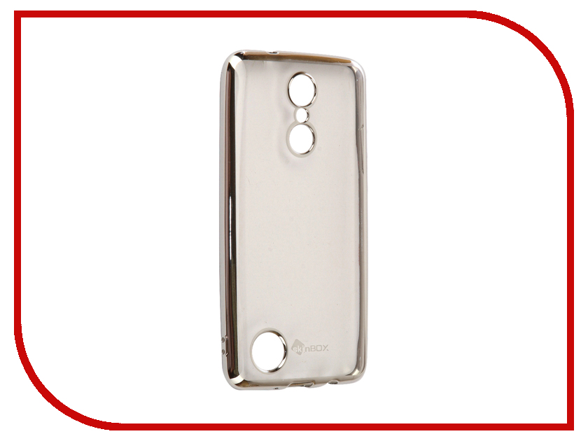 Аксессуар Чехол-Наклада LG K8 2017 SkinBox Silicone Chrome Border 4People Silver T-S-LK82017-008 skinbox lg g4s skinbox shield 4people