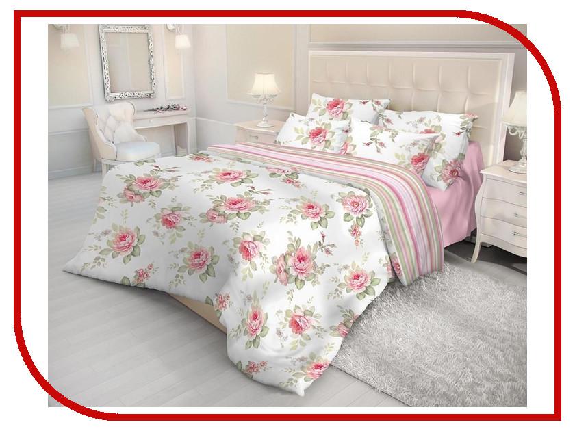 Постельное белье Волшебная ночь Ева Комплект Евро Ранфорс Pink 183736