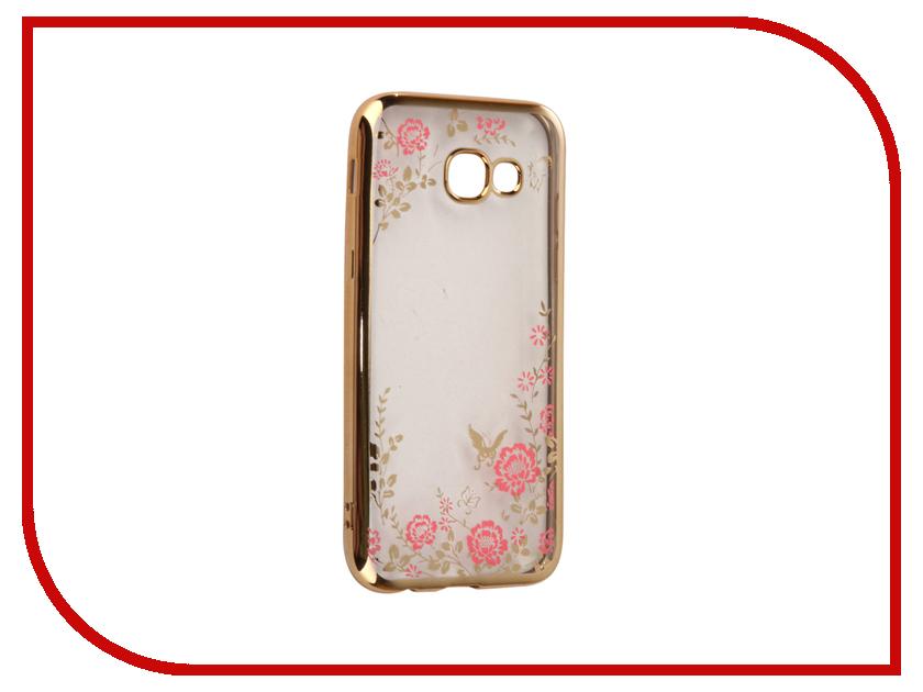 Аксессуар Чехол-накладка Samsung Galaxy A5 2017 SkinBox Silicone Chrome Border Color Style 1 4People Pink T-S-SGA52017-009 skinbox 4people чехол для samsung galaxy note 5