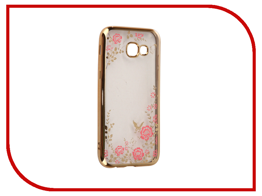Аксессуар Чехол-накладка Samsung Galaxy A5 2017 SkinBox Silicone Chrome Border Color Style 1 4People Pink T-S-SGA52017-009 аксессуар чехол накладка samsung galaxy a5 2016 skinbox silicone chrome border 4people silver t s sga52016 008