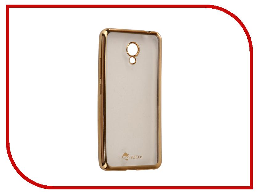 Аксессуар Чехол-накладка Meizu M5C SkinBox Silicone Chrome Border 4People Gold T-S-MM5C-008