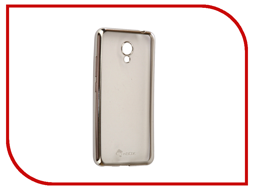 Аксессуар Чехол-накладка Meizu M5C SkinBox Silicone Chrome Border 4People Silver T-S-MM5C-008