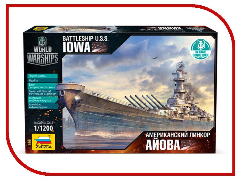 Сборная модель Zvezda Линкор Айова World of Warships 9201