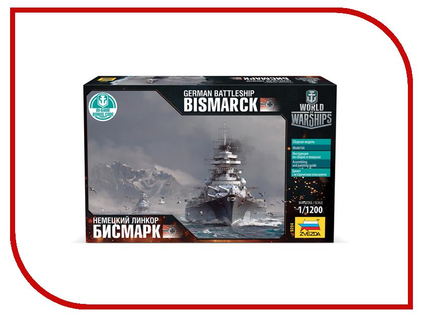 Сборная модель Zvezda Немецкий линкор Бисмарк World of Warships 9204 121043 линкор гото предестинация 60x48x13см 1104932