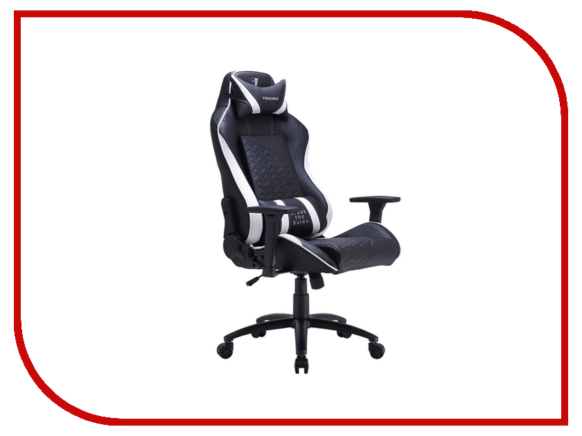 Компьютерное кресло Tesoro Zone Balance F710 Black-White TS-F710WH дутики tesoro tesoro te947amkec74