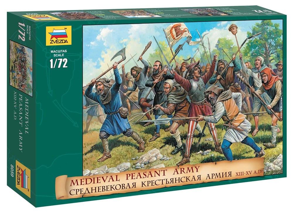 Сборная модель Zvezda Средневековая крестьянская армия 8059