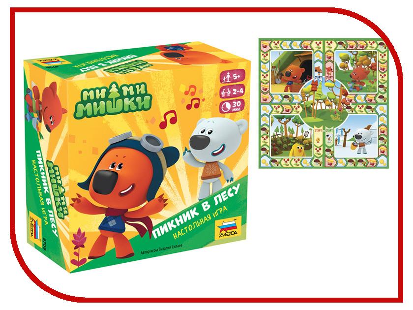 Настольная игра Zvezda Ми-ми-мишки Пикник в лесу 8708 santa maria стеклянная вермишель 100 г
