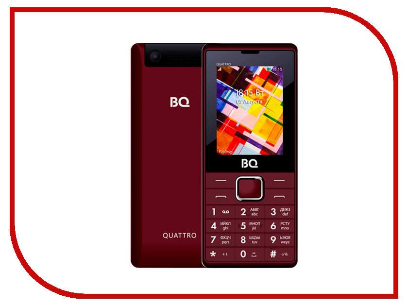 Сотовый телефон BQ BQ-2412 Quattro Dark Red