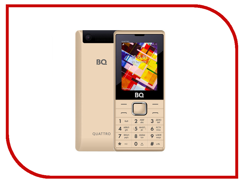Сотовый телефон BQ BQ-2412 Quattro Gold сотовый магазин интернет