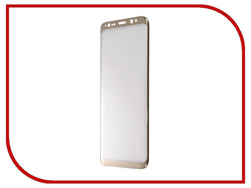 Аксессуар Защитное стекло Samsung Galaxy S8 Onext 3D Gold 41262 аксессуар защитное стекло samsung galaxy s8 plus onext 3d white 41265