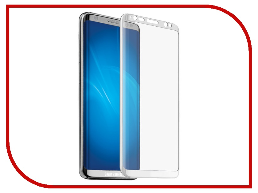 Аксессуар Защитное стекло Samsung Galaxy S8 Onext 3D White 41261 аксессуар защитное стекло samsung galaxy s8 plus onext 3d black 41264