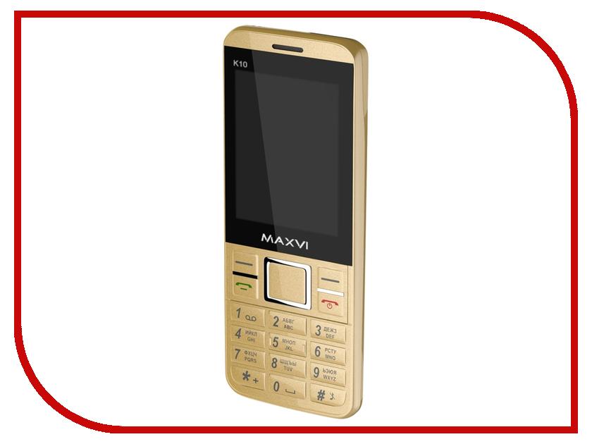 Сотовый телефон Maxvi K10 Gold сотовый