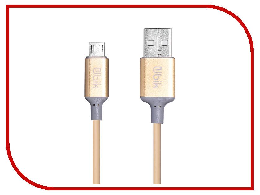 Аксессуар Ubik UPM02 USB - Micro USB Gold цена и фото
