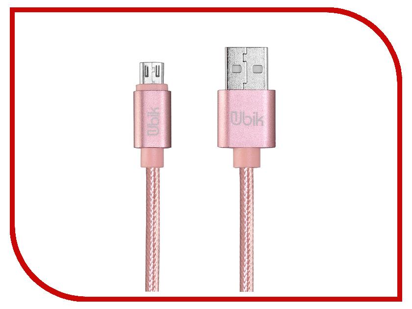 Аксессуар Ubik UM09 USB - Micro USB Pink цена и фото