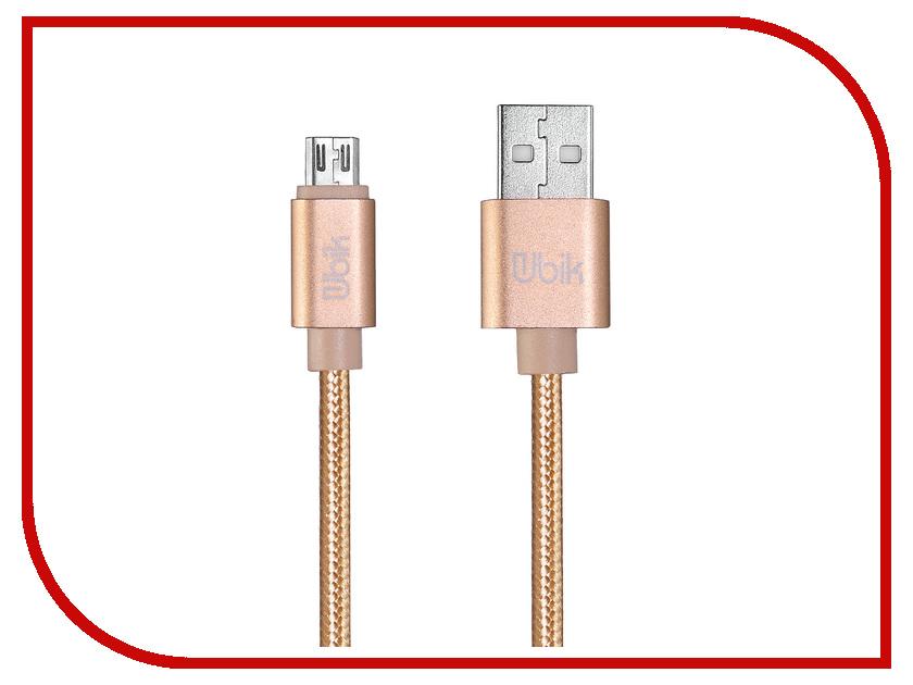 Аксессуар Ubik UM09 USB - Micro USB Gold цена и фото