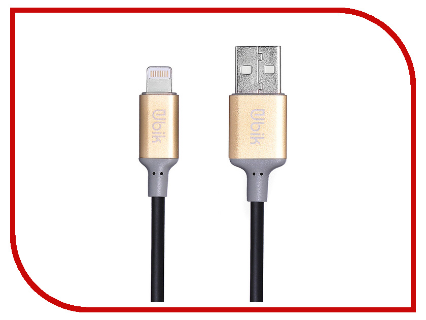 Аксессуар Ubik UPL02 USB - Lightning Black цена и фото