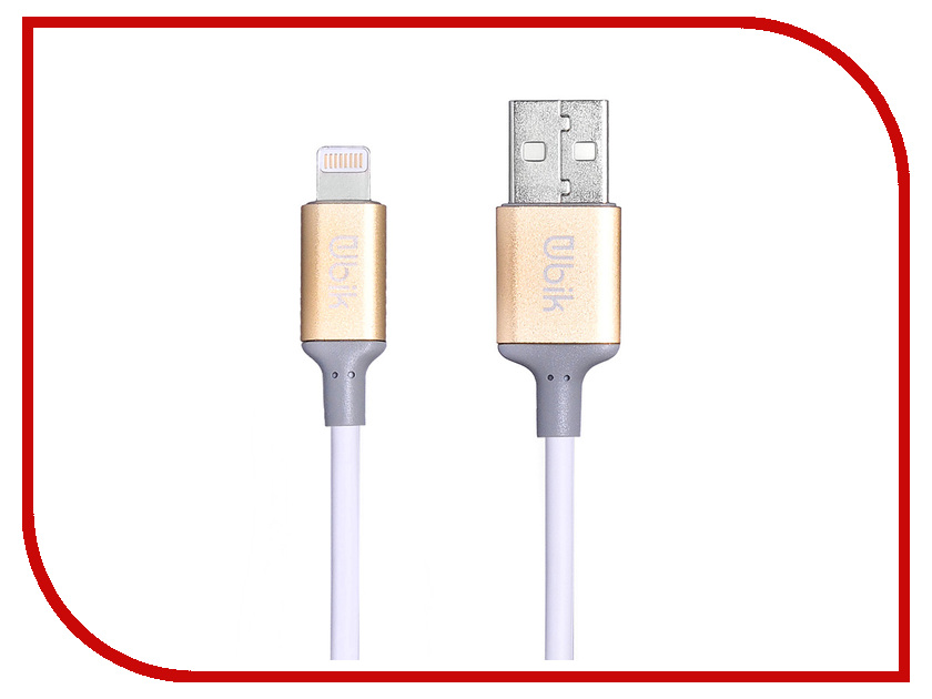 Аксессуар Ubik UPL02 USB - Lightning White цена и фото