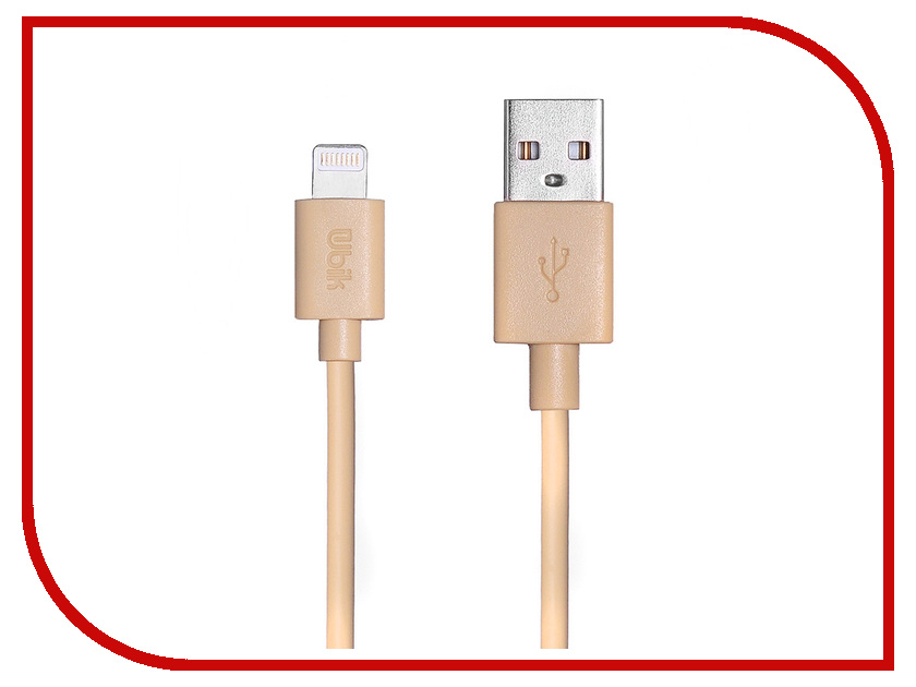 Аксессуар Ubik UL10 USB - Lightning Gold аксессуар pineng pn 305 usb lightning gold