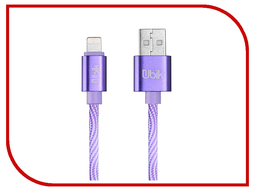 Аксессуар Ubik UL08 USB - Lightning Purple