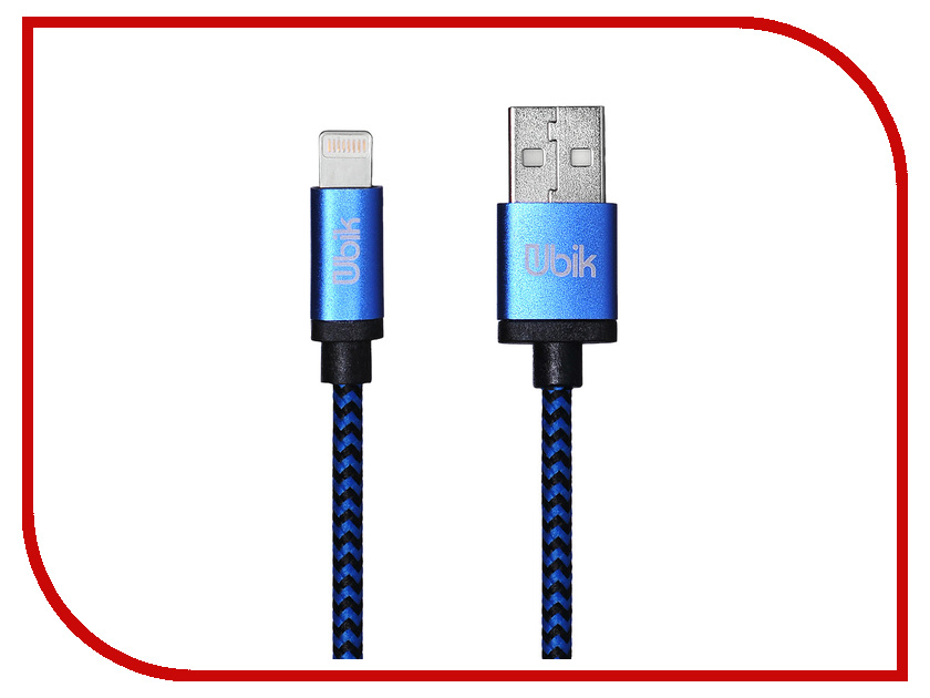 Аксессуар Ubik UL03 USB - Lightning Blue цена и фото