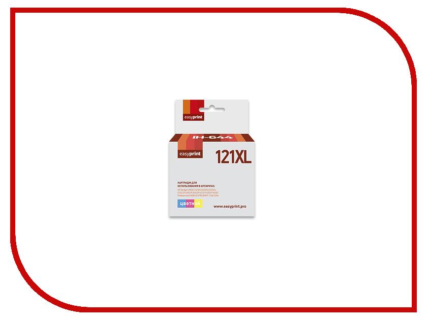 Картридж EasyPrint IH-644 №121XL для HP Deskjet D1663/D2563/D2663/D5563/F2423/F2483/F2493/F4275/F4283/F4583/Photosmart C4683/C4783/ENVY 110e/120e