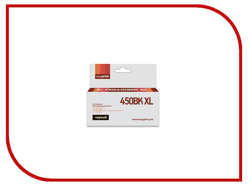 Картридж EasyPrint IC-PGI450BK XL для Canon PIXMA iP7240/8740/iX6840/MG5440/5540/5640/6340/6440/6640/7140/7540/MX924 Black картридж струйный canon pgi 450xlpgbk 6434b001 черный для canon pixma ip7240 mg6340 mg5440