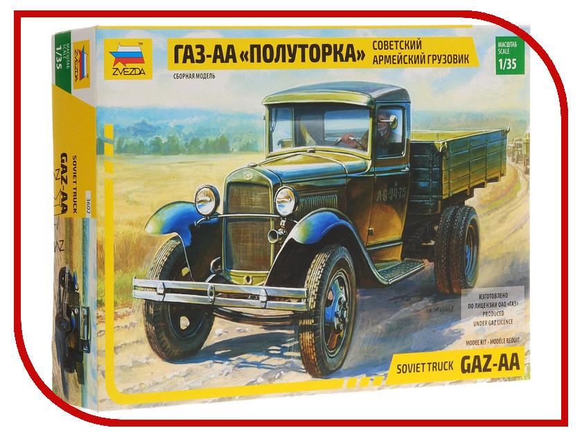 Сборная модель Zvezda Грузовик ГАЗ-АА Полуторка 3602П сборная модель zvezda советский трёхосный грузовик газ ааа 3547