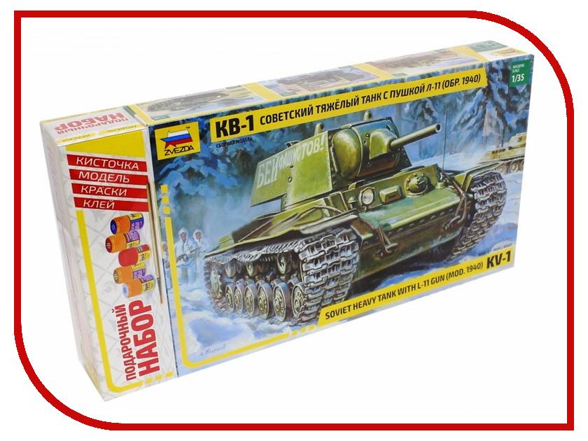 Сборная модель Zvezda Советский танк КВ-1 мод. 1940г 3624П сборная модель zvezda немецкий танк t iv f2 6251