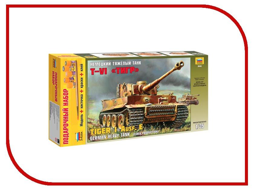 Сборная модель Zvezda Немецкий тяжелый танк T-VI Тигр 3646П