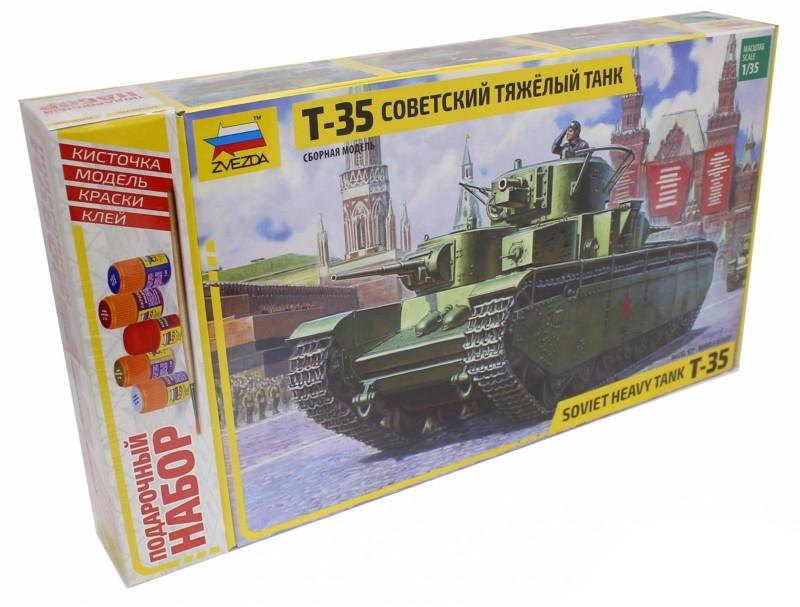 Сборная модель Zvezda Советский тяжелый танк Т-35 3667П