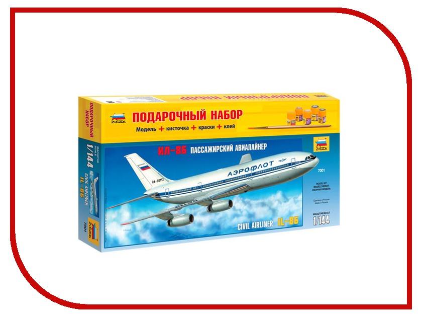 Сборная модель Zvezda Пассажирский авиалайнер Ил-86 7001П звезда сборная модель пассажирский авиалайнер ил 62м
