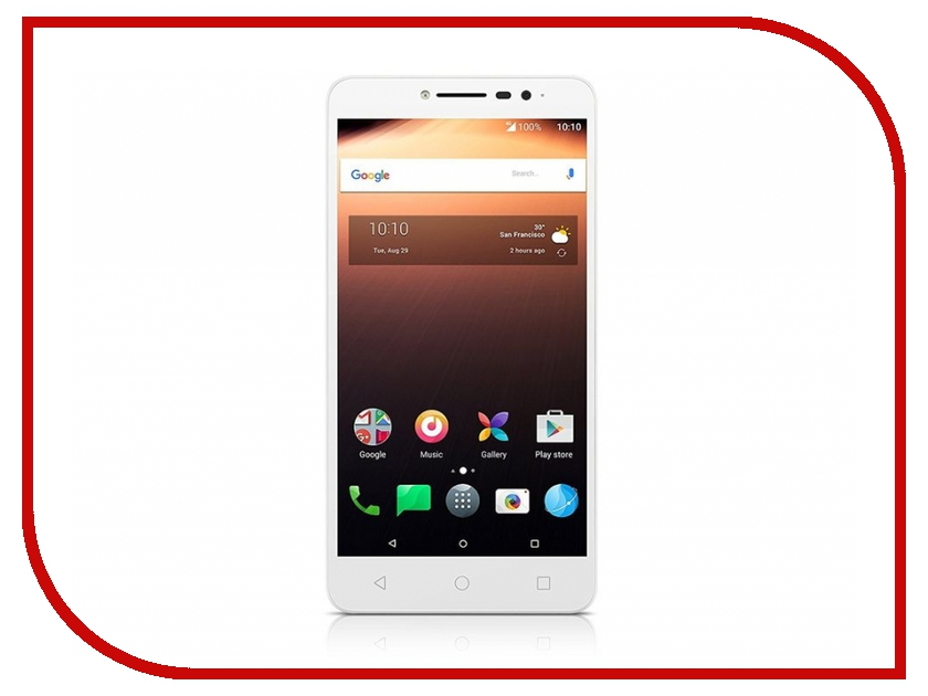 Сотовый телефон Alcatel 9008D A3 XL White-Silver practical global optimization computing methods in molecular modelling