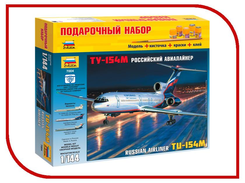 Сборная модель Zvezda Пассажирский авиалайнер Ту-154 7004П сборная модель zvezda автомобиль газ м1 3634