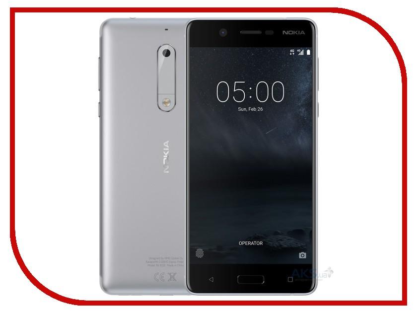 Сотовые / мобильные телефоны, смартфоны 5 Dual Sim  Сотовый телефон Nokia 5 Dual Sim Silver