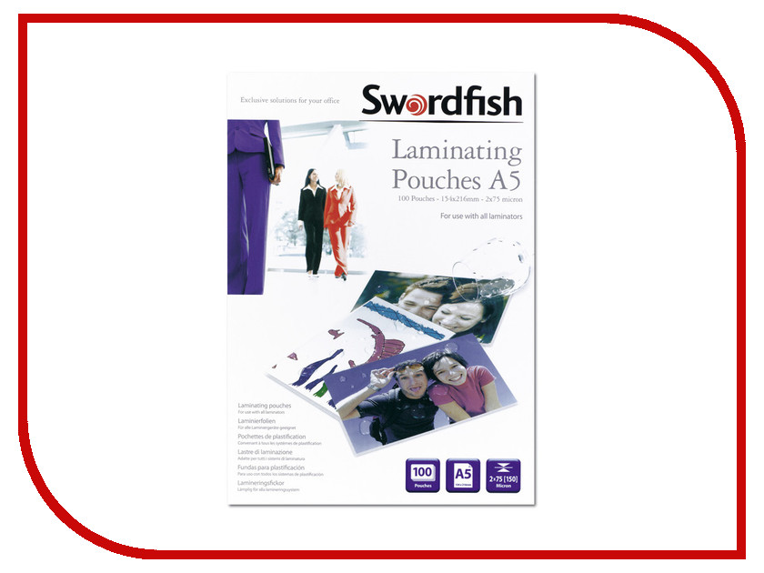 Пленка для ламинирования Swordfish А5 2x75 мкр 100шт SF48019