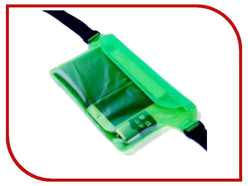Аксессуар Чехол Activ Водонепроницаемый, поясной 210x170mm Green 67131 аксессуар чехол накладка micromax canvas viva a106 activ silicone black mat 46857