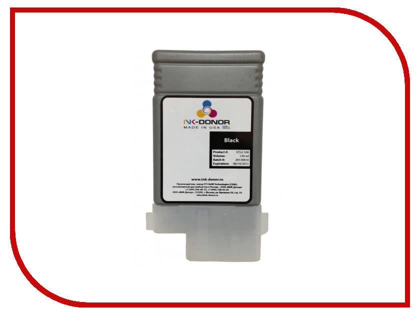 Картридж INK-Donor Black INK-107BK щетки стеклоочистителя bosch aerotwin ar701s бескаркасные 650 мм 500 мм 2 шт