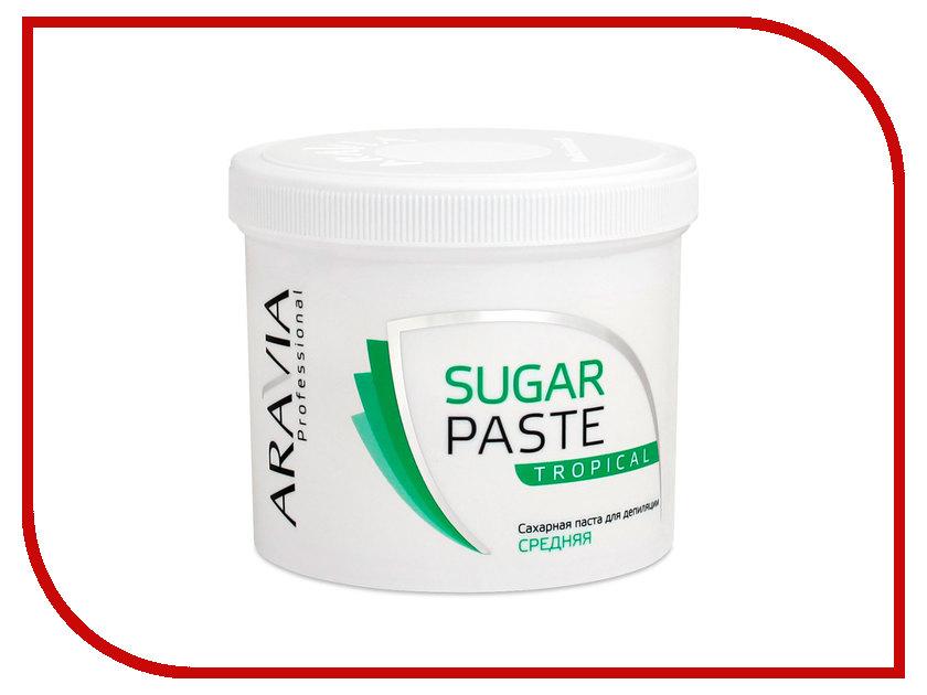 Домашний шугаринг Aravia Professional Сахарная паста Тропическая средняя 750гр 1016 домашний шугаринг start epil паста для депиляции универсальная 400гр 2024