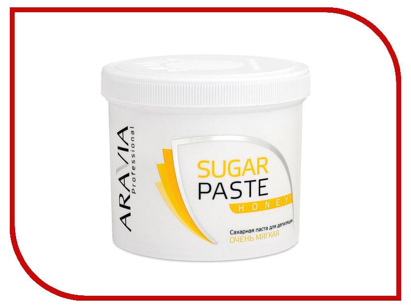 Домашний шугаринг Aravia Professional Сахарная паста Медовая очень мягкая 750гр 1015 домашний шугаринг start epil паста для депиляции универсальная 400гр 2024