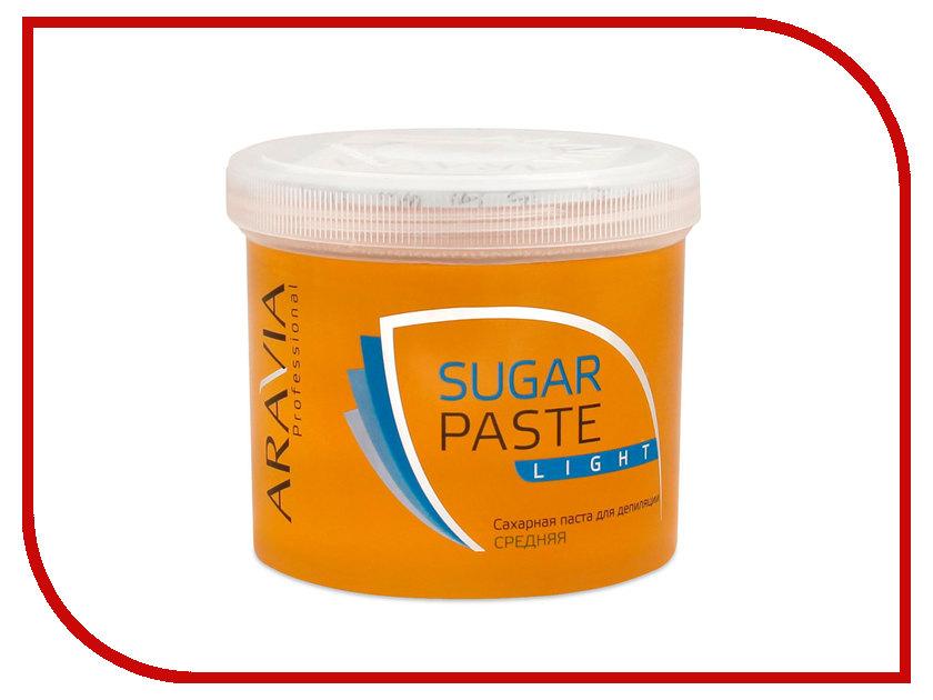 Домашний шугаринг Aravia Professional Сахарная паста Легкая средняя 750гр 1017 шоколадная сахарная паста shelka vista средняя 500g