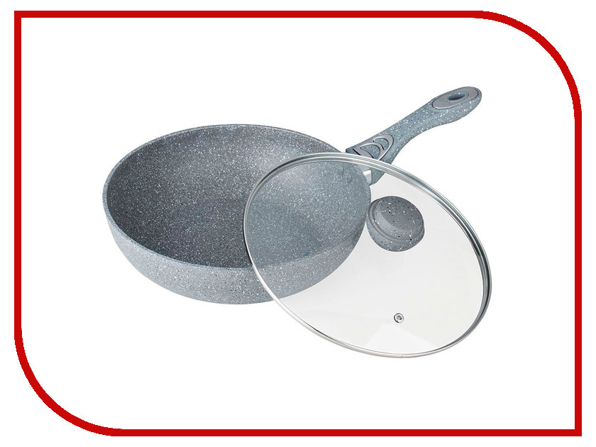 Сковорода Bekker Bok 30cm Silver Marble BK-7910 сковорода d 22 см со съемной ручкой bekker grey marble bk 3788