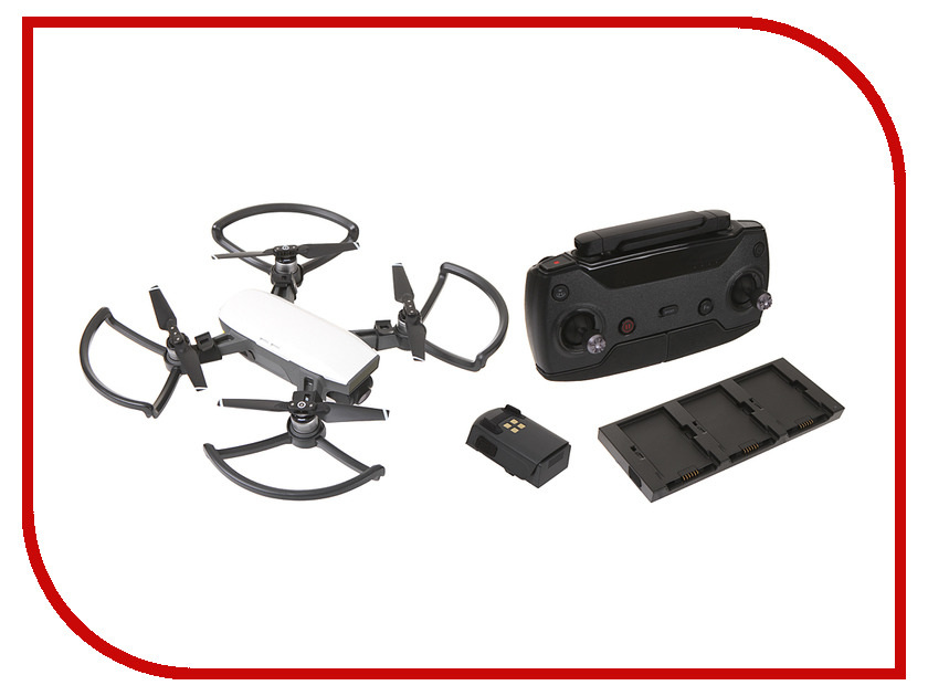 Квадрокоптер DJI Spark Fly More Combo Alpine White квадрокоптер dji spark fly more combo красный