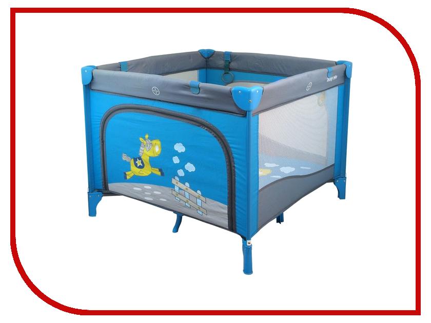 Манеж-кровать Baby Mix Larry Blue развивающий коврик baby mix мишка на волнах 3261ce 62104
