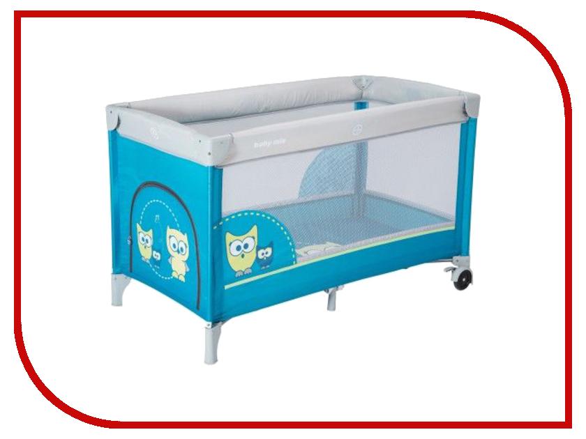 Манеж-кровать Baby Mix Sowa Blue