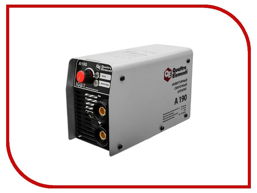 Сварочный аппарат Quattro Elementi A 190 248-528 мойка высокого давления quattro elementi