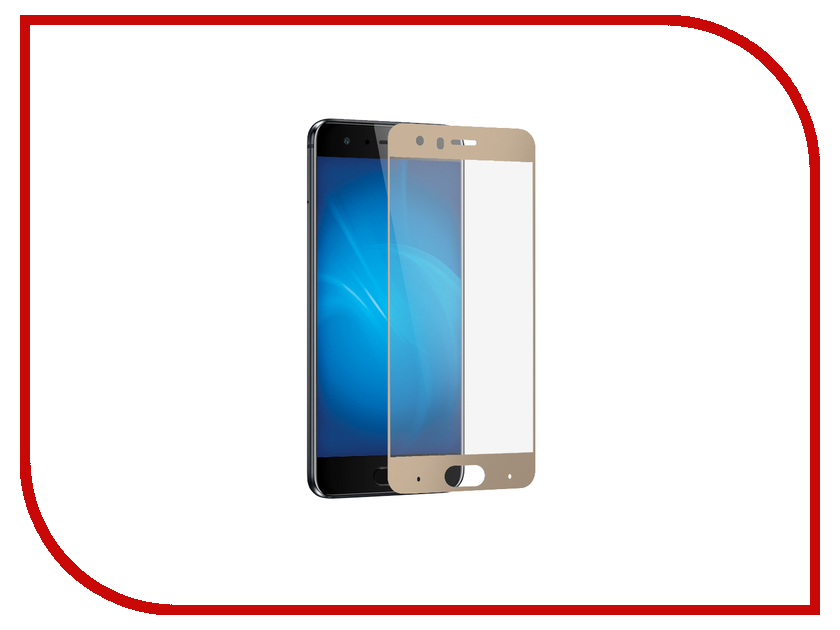 Аксессуар Защитное стекло Huawei Honor 9 Mobius 3D Full Cover Gold