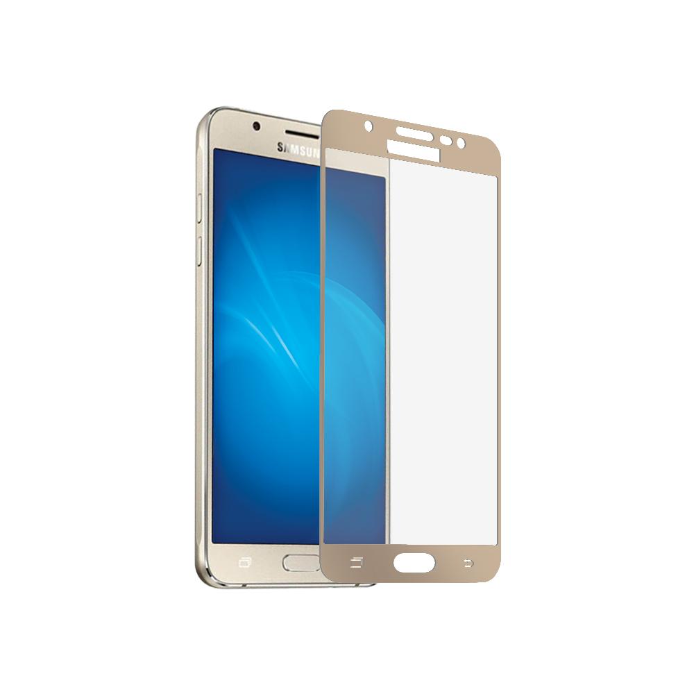 Аксессуар Защитное стекло для Samsung Galaxy J3 2017 CaseGuru Full Screen 0.33mm Gold цена