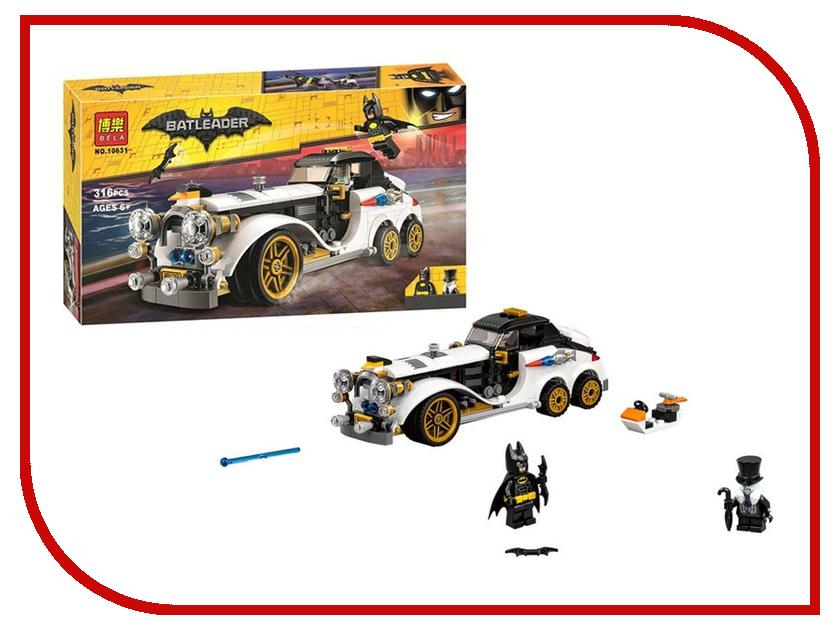 Конструктор Bela Batman Автомобиль Пингвина 316 Дет. 10631 конструктор lepin batman космический шаттл бэтмена 720 дет 07098