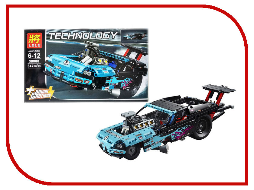 Конструктор Lele Technology 647 дет. 38000 lele 38000 technic city series drag racer car building block 647pcs diy educational toys for children compatible legoe